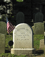 Click to enlarge photo of Gravestone of Washington Irving.